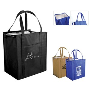 Non Woven Large Insulated Tote Bag (Spot Color)
