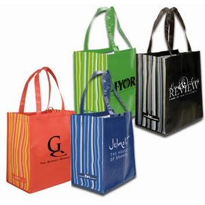 RPET Striped Tote Bag (Spot Color)